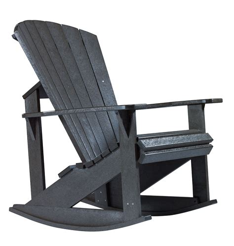 Black Adirondack Rocking Chairs