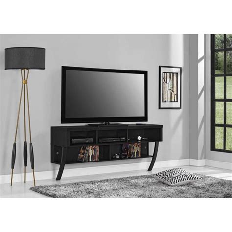 Black Altra Asher Wall Mounted 65 Tv Stand Black