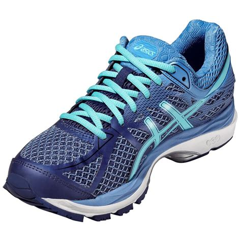 Black And Blue Asics Sneakers For Women