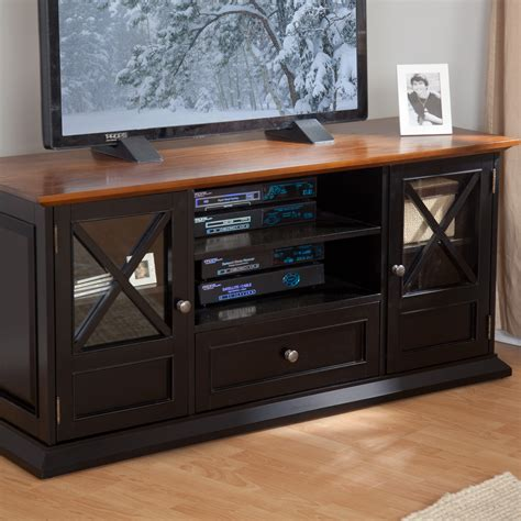 Black And Oak Tv Stand
