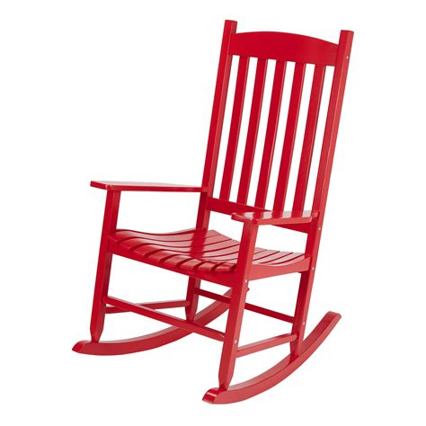 Black And Red Rocking Chair