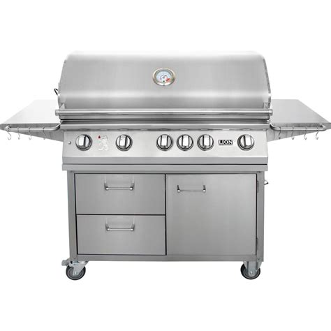 Black And Stainless Steel Outdoor Grilling Carts