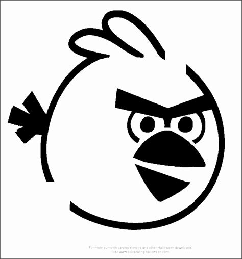 Black And White Angry Bird Templates