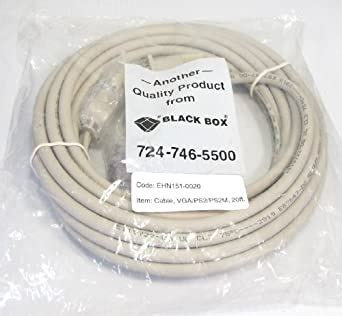 Black Box CPU/Server to ServSwitch Cable (CPU Cable), PS/2 Standard, 20-ft. (6.0-m)