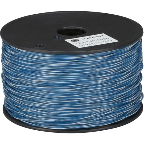 Black Box Cross-Connect Wire, 1-Pair, White/Blue with Blue, 1000-ft. Spool