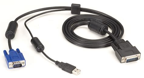 Black Box KVM CPU CABLE, VGA, USB, 16FT