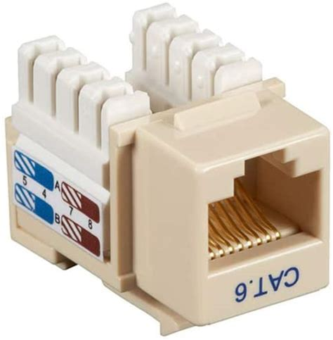 Black Box Network Services Cat6 Keystone Jack Ivory 5 Pack