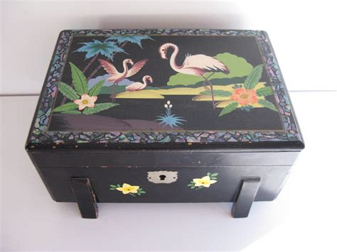 Black Enamel Music Box Chinese Songs