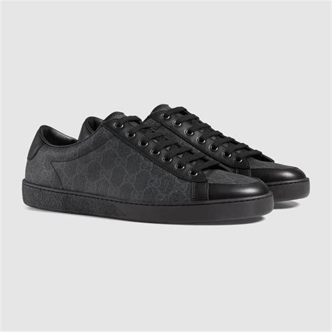 Black Gucci Canvas Sneakers