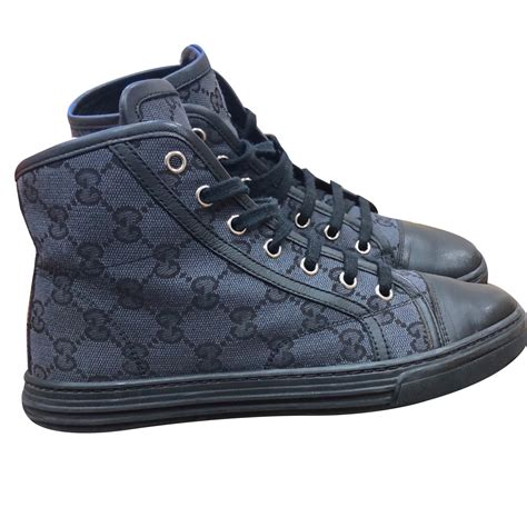 Black Gucci High Top Sneakers Womens