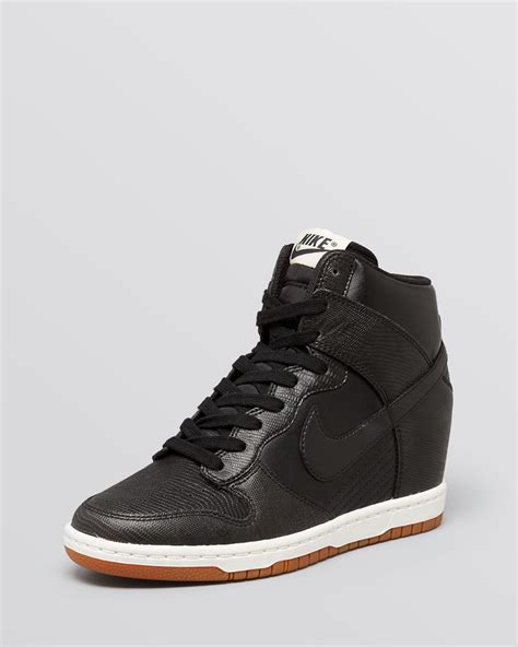 Black Leather Nike Wedge Sneakers