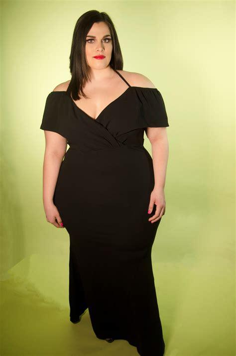 47c88b005 Black Off The Shoulder Scuba Maxi Dress – Nina Cheyenne ⊕