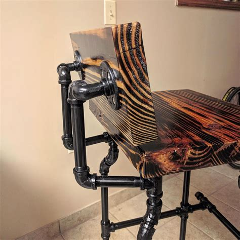 Black Pipe Bar Stool DIY With Back