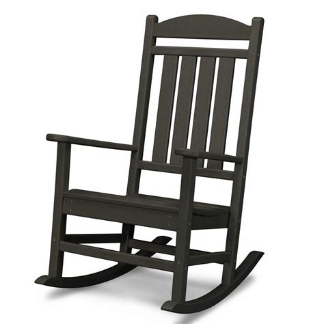Black Poly Rocking Chair