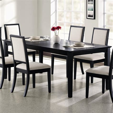Black Rectangle Kitchen Table And Chairs