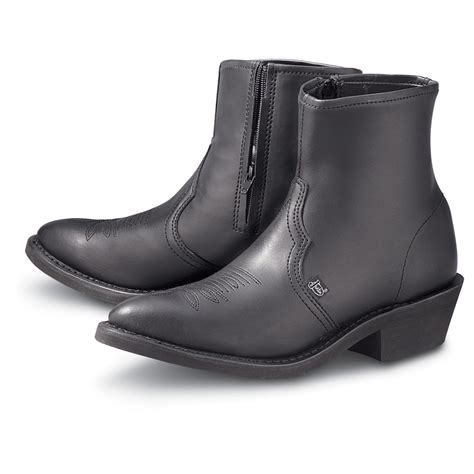 Black Side Zip Western Boot