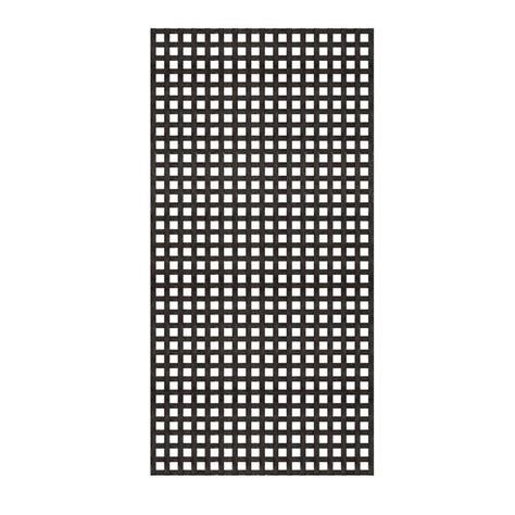Black Vinyl Lattice Privacy Panels 6 Foot