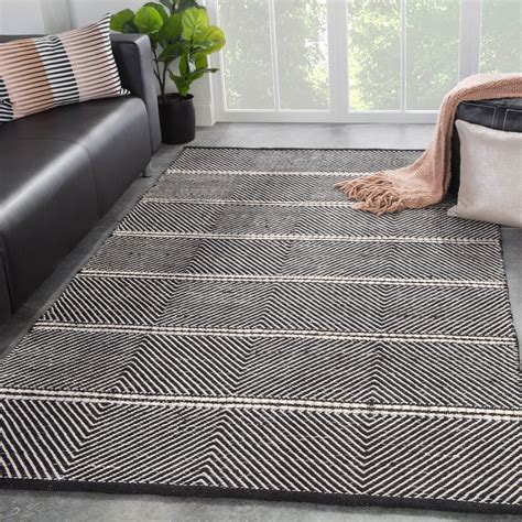 Black White Pattern Rugs