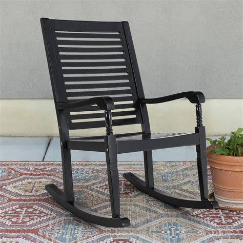 Black Wood Outdoor Rocking Chairs