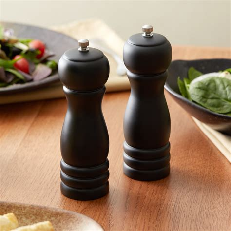 Black Wood Salt And Pepper Grinders