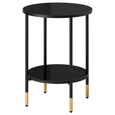 Black side table ikea Image