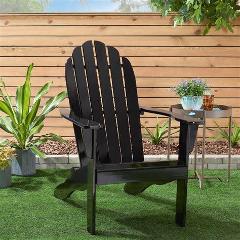 Black-Adirondack-Chairs-Wood