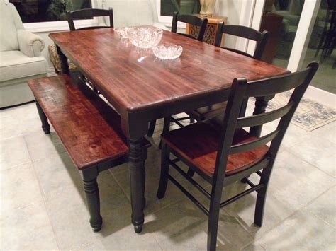 Black-And-Brown-Farmhouse-Table