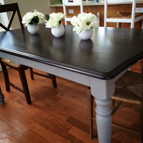 Black-Table-With-Gray-Top-Diy