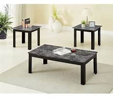 Best Black faux marble coffee and end tables