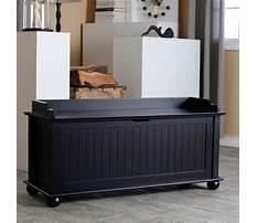 Best Black storage bench wood