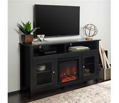 Best Black tv stand with electric fireplace