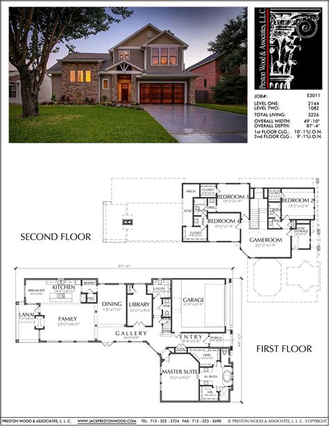 Blank House Plans 2 Story