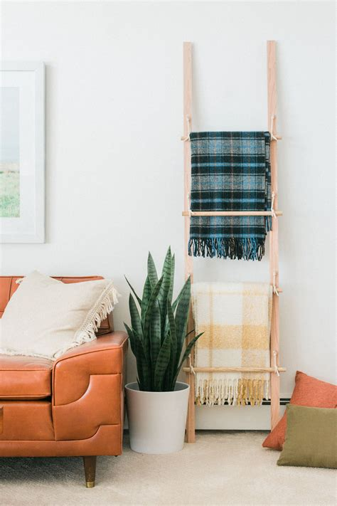 Blanket Ladder Rack Diy Cute