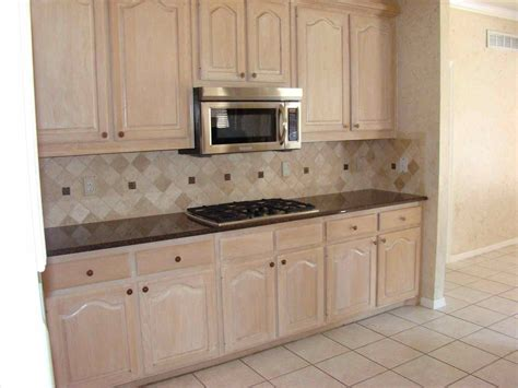 Bleached Oak Cabinets Wall Colors