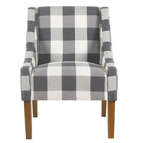 Blue Buffalo Plaid Accent Chair