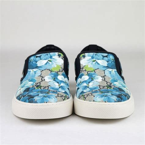 Blue Floral Gucci Sneakers