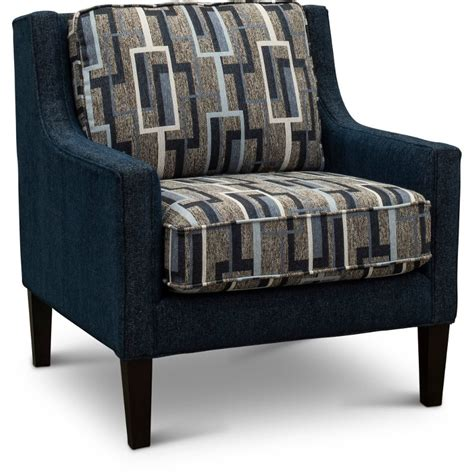 Blue Grey Accent Chairs