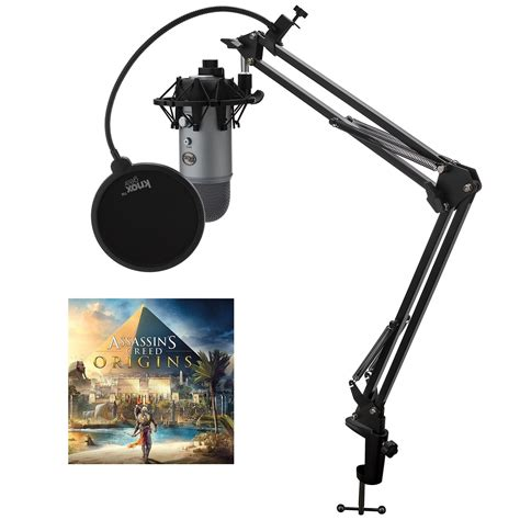 Blue Microphones YETI Mic w Knox Boom Arm Stand, Shock Mount and Pop Filter