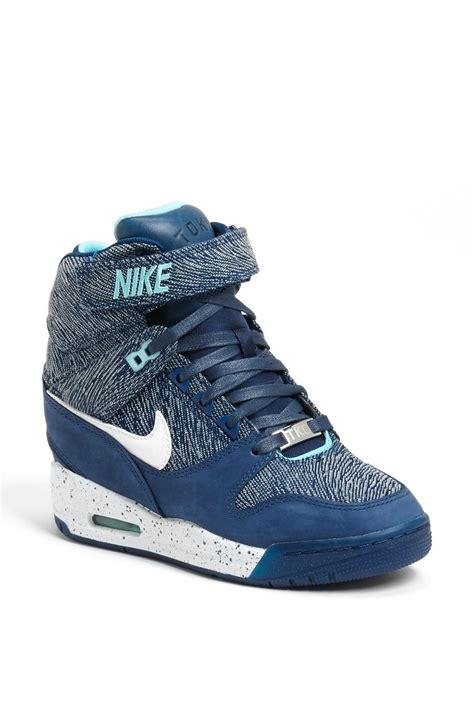 Blue Nike Wedge Sneakers