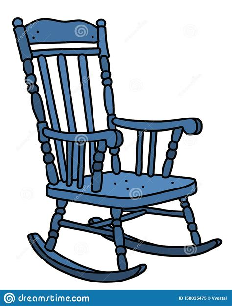Blue Rocking Chair Clipart
