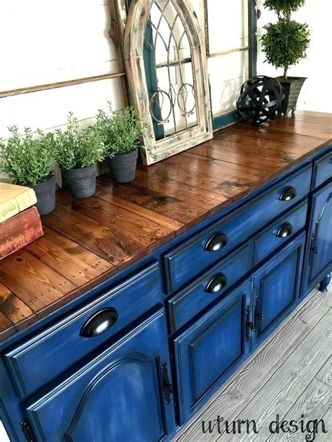 Blue Wood Stained Furniture