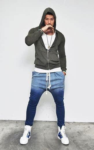 Blue Sweatpants Outfit