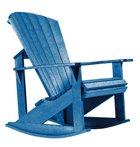 Blue-Adirondack-Rocking-Chairs