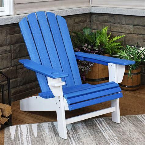 Blue-And-White-Adirondack-Chair