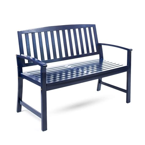 Blue-Wood-Bench