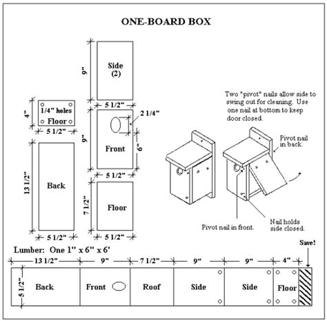 Bluebird Box Plans One Board
