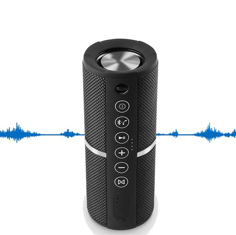 Bluetooth Speaker Portable Waterproof Outdoor Wireless Speakers Enhanced Bass, Sync Together, Built in Mic, TF Card, Auto Off, FM Radio for Beach, Shower & Home (Black)