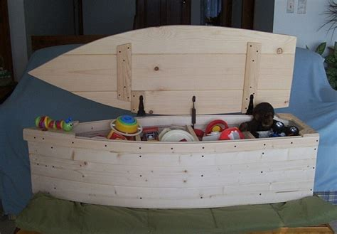 Boat Shaped Toy Box Plans