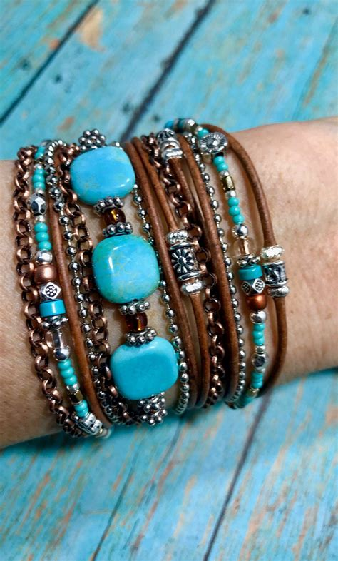 Boho Wood Beads Diy Adjustable Bracelets