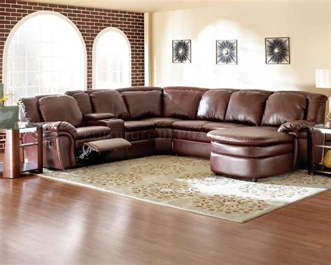 Bonded Leather Reclining Sectional